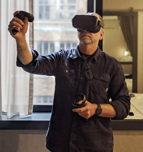 Presenting at Synapse Summit using virtual reality (VR) in New York City