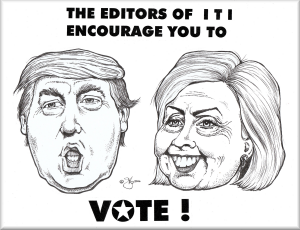 The editors of ITI encourage you to vote! - image © 2016, Gib Robbie