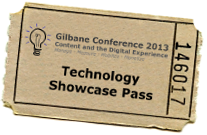 Gilbane technology showcase ticket