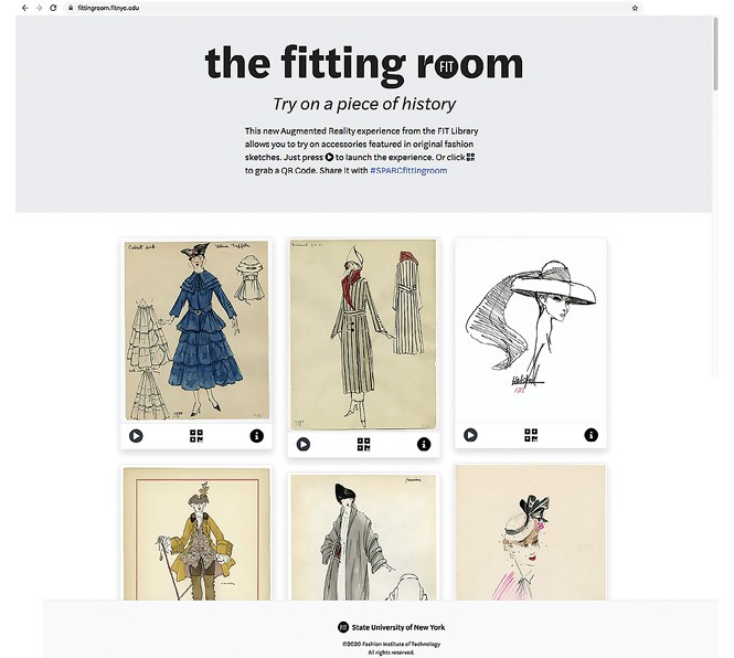 Figure 9: Enter The FITting Room. The finished website has multiple AR options for webcam or smartphone camera.