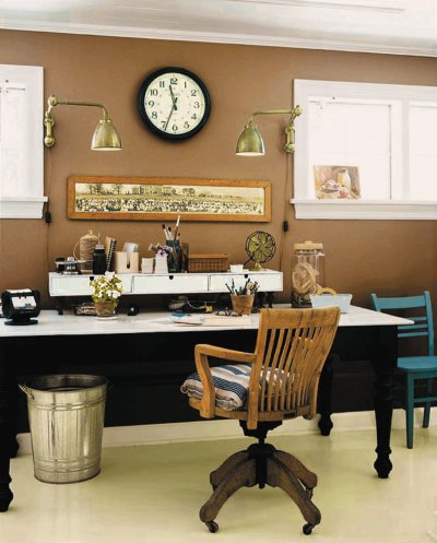 Glidden Paints Wall Color Adds Dimension To A Home Office Photo Ici Na